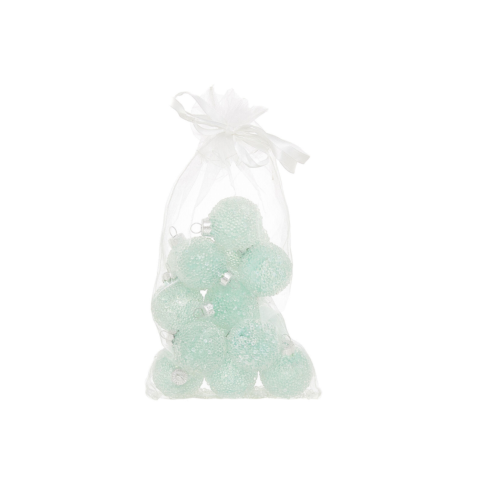 Bag of 15 frost-effect baubles