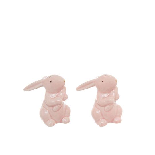 Set sale e pepe porcellana a coniglietto