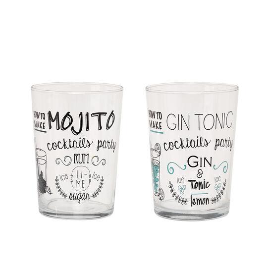 Mojito&Gin cocktail glasses