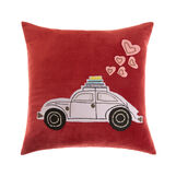 Velvet cushion with embroidery 45x45 cm