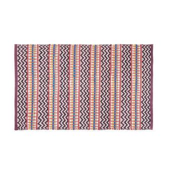 Kitchen mat with zigzag motif