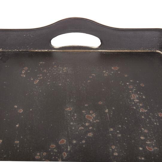 Rectangular distressed-effect tray