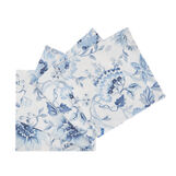 Set of 4 napkins in 100% cotton with floral print