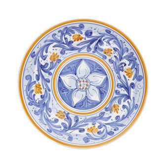 Piatto da portata decoro margherita by Ceramiche Siciliane Ruggeri