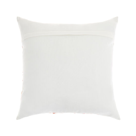 Cotton cushion with palms embroidery 45x45cm