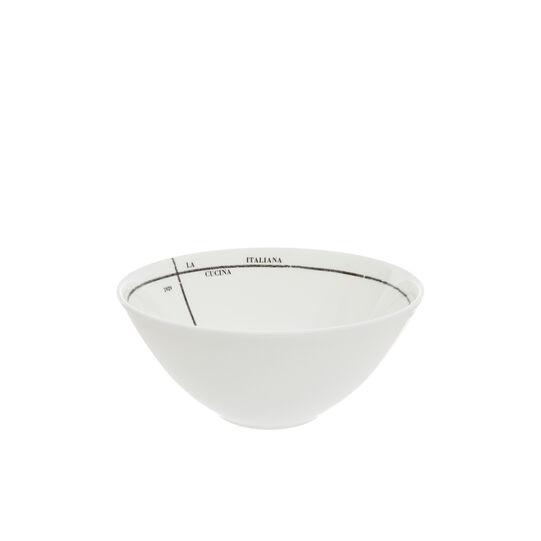 Small fine bone china bowl with geometric La Cucina Italiana decoration