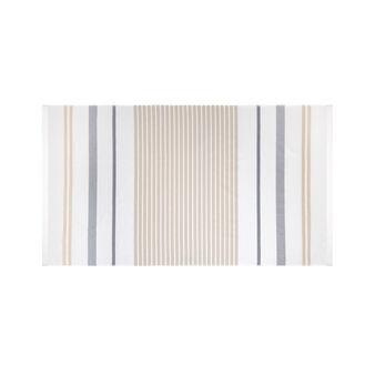 Striped jacquard cotton hammam beach towel