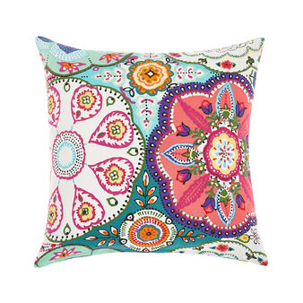 Cushion with abstract print