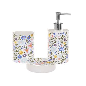 Set 3 accessori bagno ceramica decorata