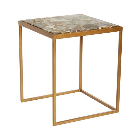 Tavolino in ferro e marmo Marble
