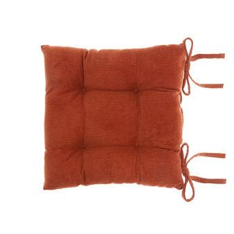 Solid colour cotton velvet seat pad
