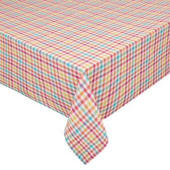 Yarn-dyed, check tablecloth in 100% cotton