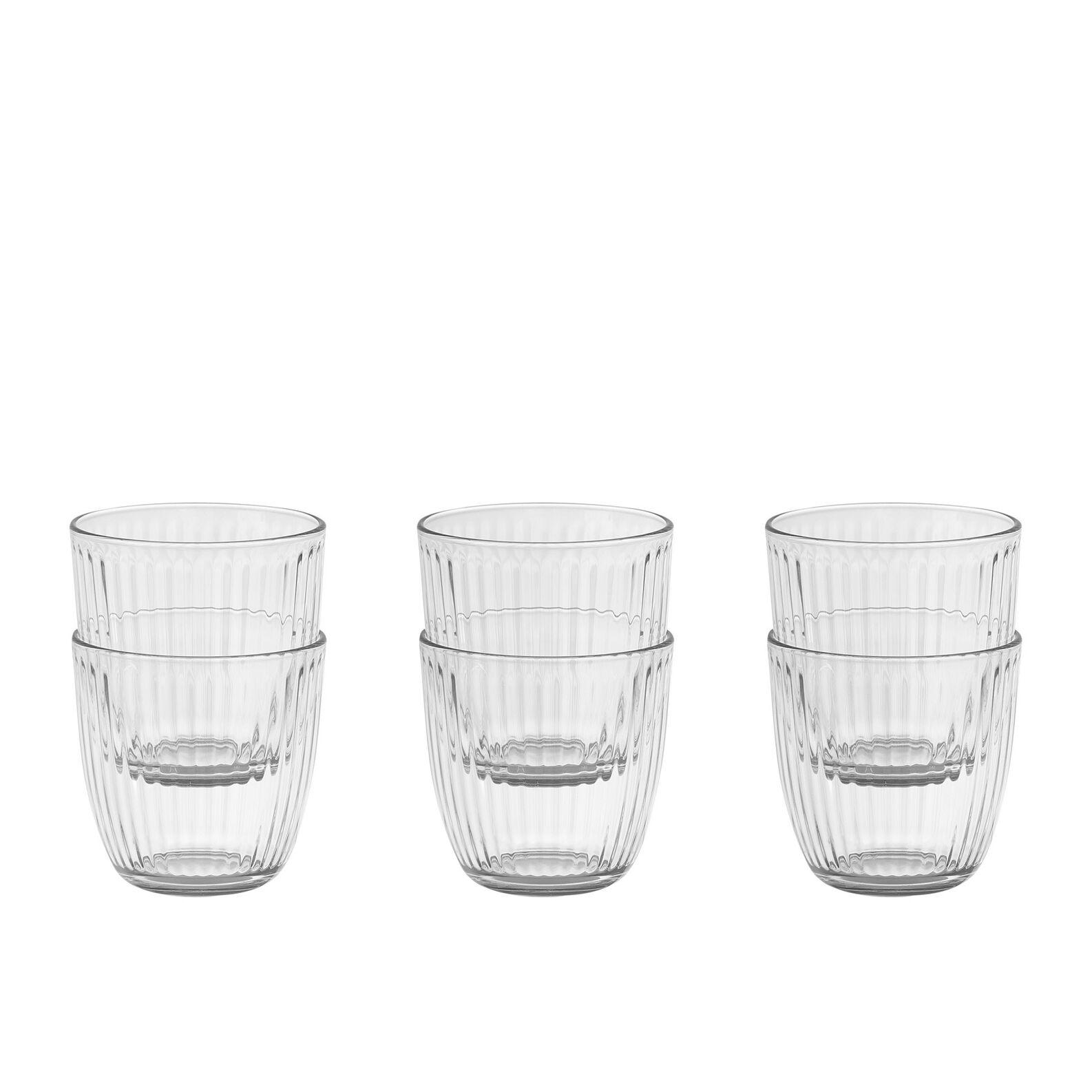 Set of 6 transparent glass tumblers