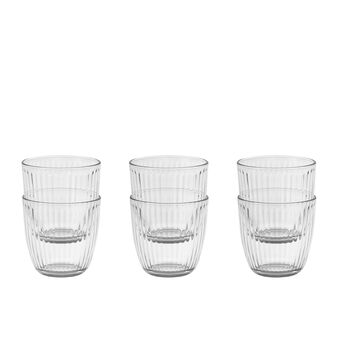 Set of 6 transparent glass tumblers