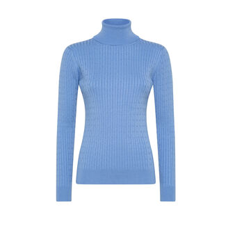 Turtleneck with braided motif