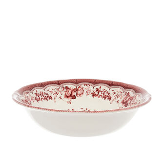 Victoria ceramic salad bowl with floral decoration