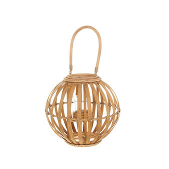 Woven bamboo lantern