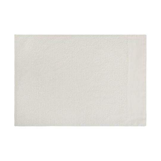100% organic cotton bath sheet with linen trim