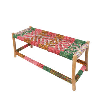 Multi-Cord fabric bench in recycled saris