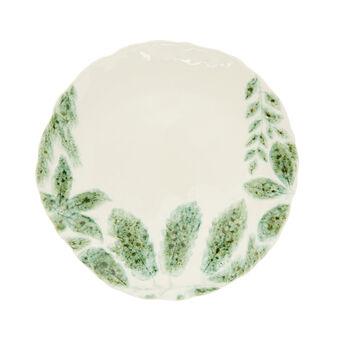 Piatto da portata ceramica motivo foglie