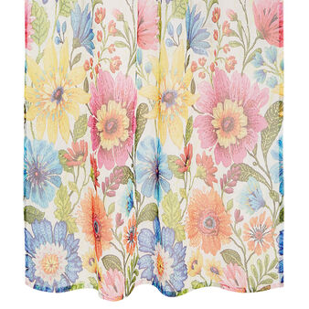 Curtain with flowers print