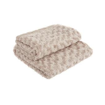 Fleece lamb blanket
