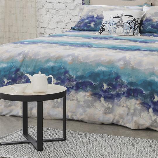 100% cotton mat with geometric motif