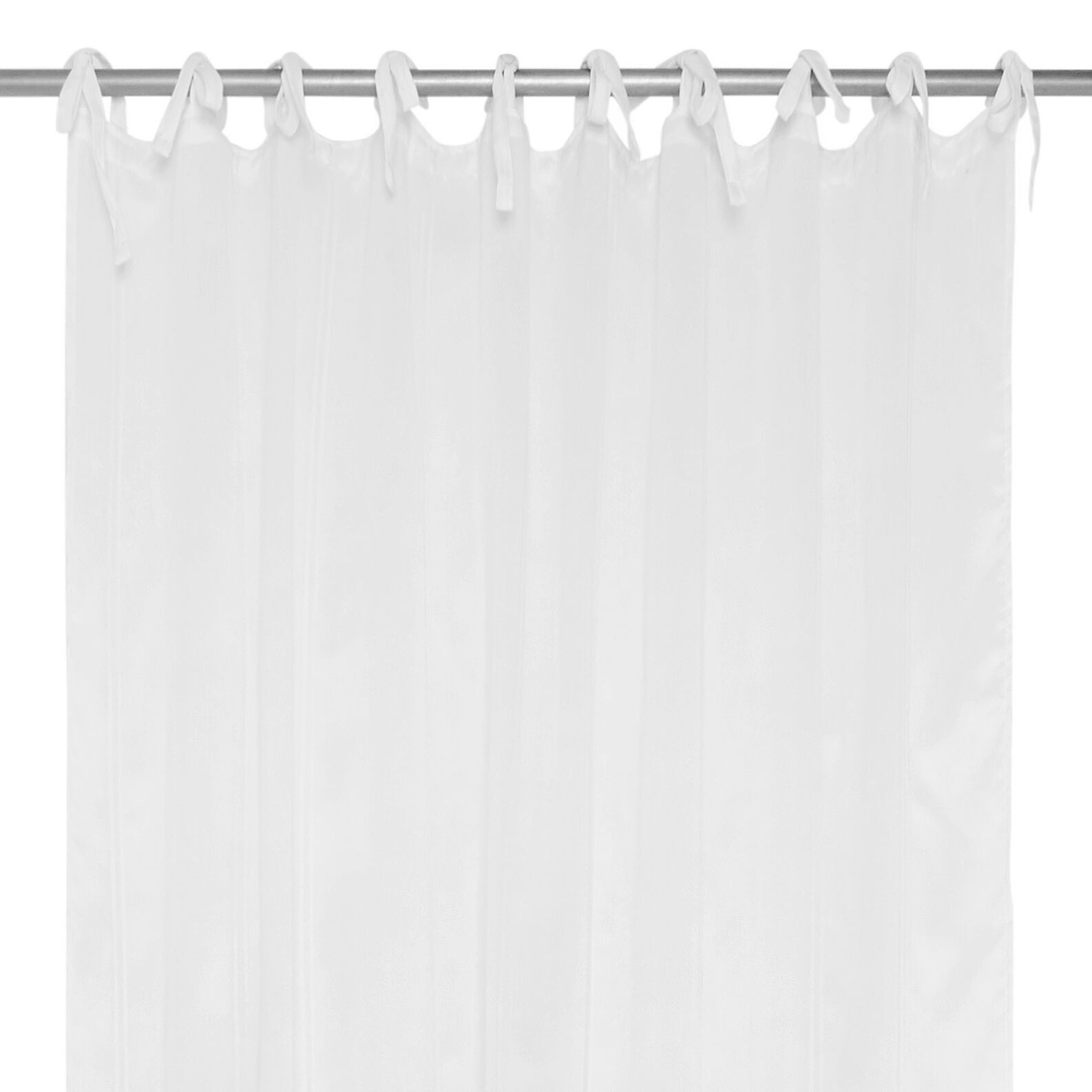 Striped embroidery curtain with laces