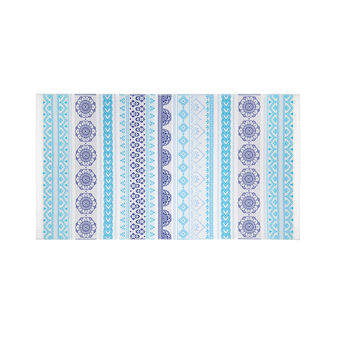 Ethnic motif cotton jacquard hammam beach towel