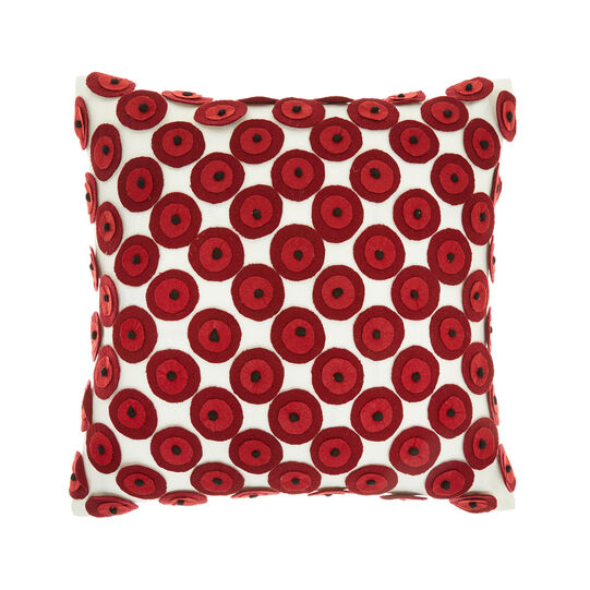Cotton cushion with felt appliqués (45x45cm)