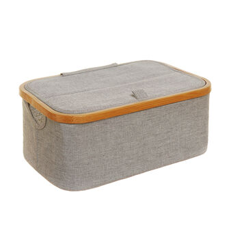 Storage misto cotone e bordo in bamboo