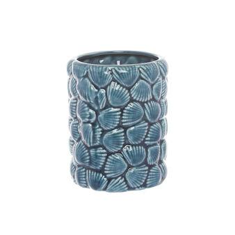 Portaspazzolini ceramica motivo conchiglie