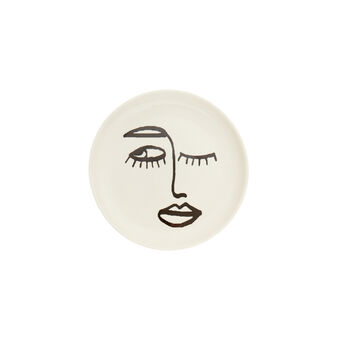 Small porcelain plate with face motif