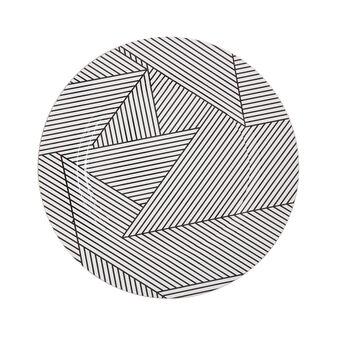 Sottopiatto plastica motivo geometrico