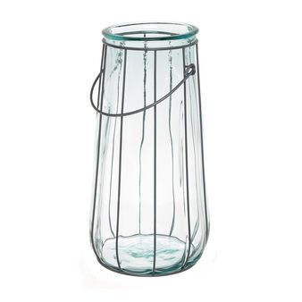 Recycled glass lantern