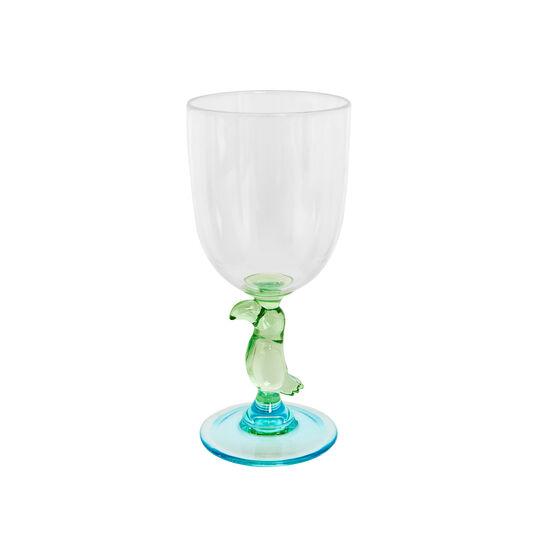 Plastic goblet with parrot detail