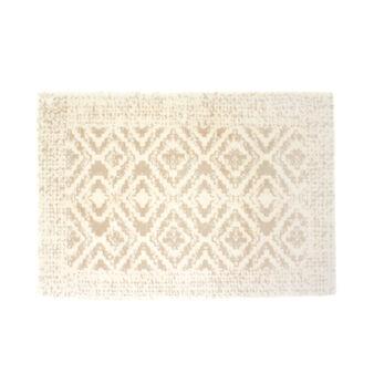 Bath mat in délabré patterned cotton