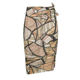 Koan silk blend sarong with Africa print