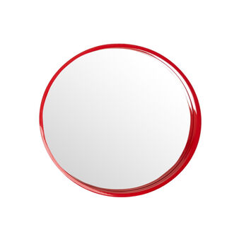 Polished lacquered round mirror