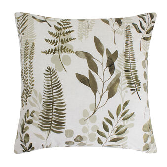 Botanic pattern cotton percale cushion