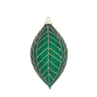 Fuso foglie decorata a mano