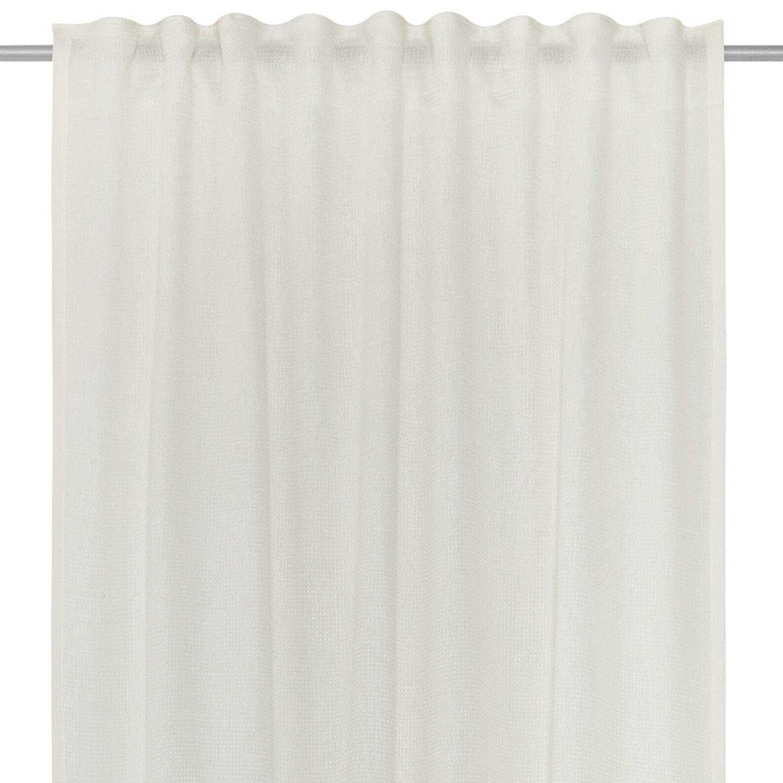 Linen blend curtain with hidden loops