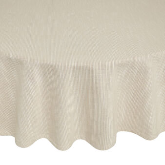 Round 100% iridescent cotton tablecloth with lace