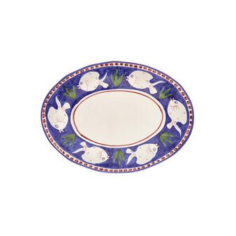 Piatto da portata ceramica lavorazione artigianale
