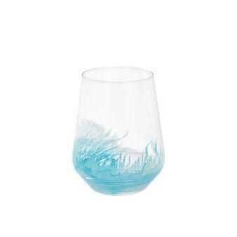 Bicchiere vetro effetto spruzzato