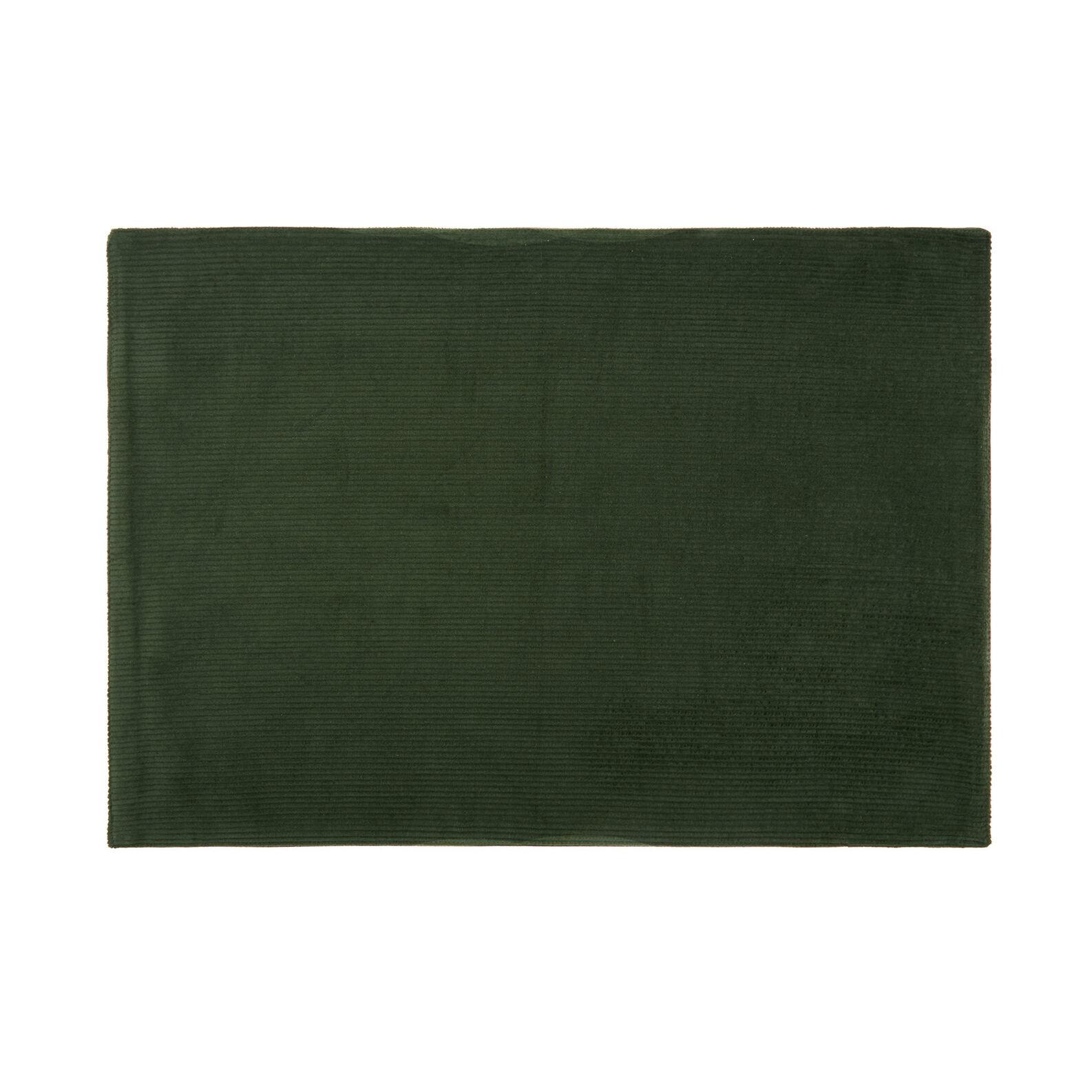 Solid colour cotton corduroy table mat