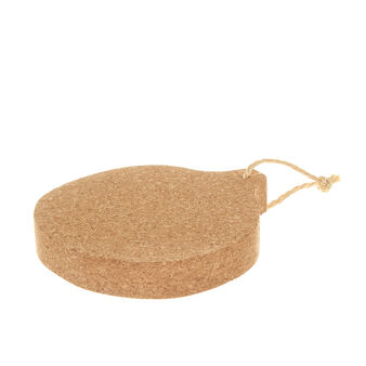 Round cork chopping board with cord