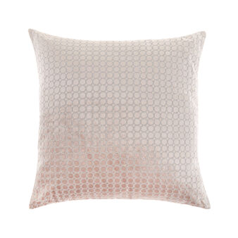 Velvet cushion with polka dot embroidery 45x45cm