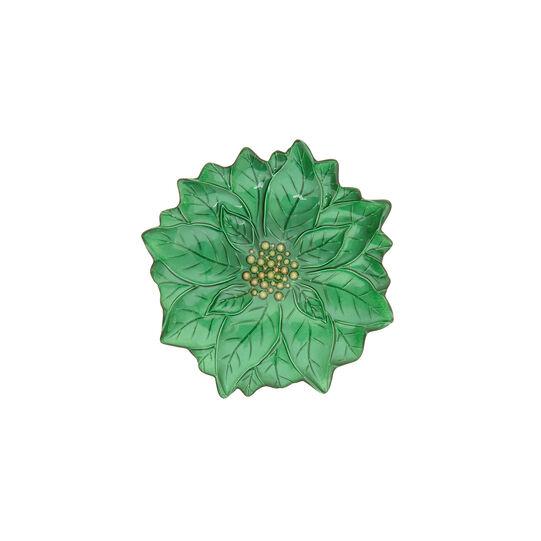 Glass Christmas star shaped side plate