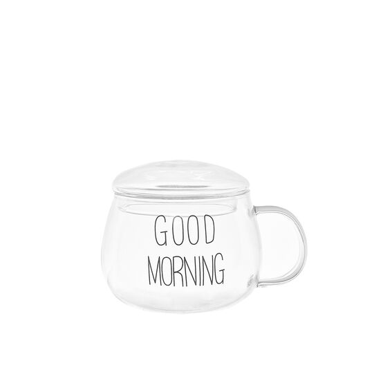 Glass Good Morning breakfast cup